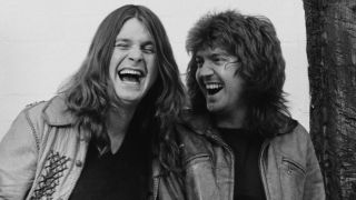A picture of Ozzy Osbourne and Bob Daisley in 1980