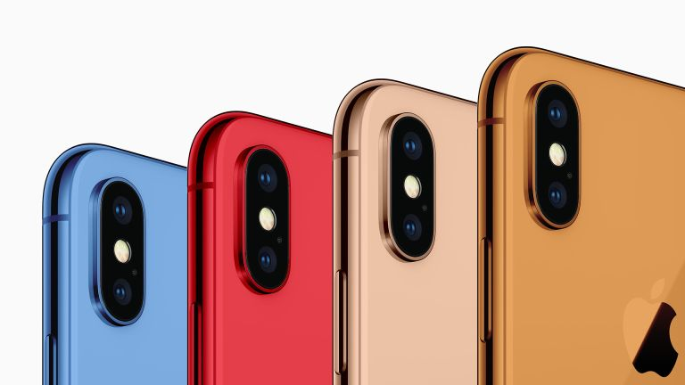 2018 iPhone X colours render