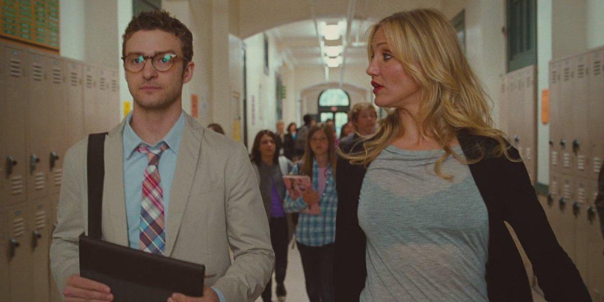 Justin Timberlake and Cameron Diaz in Bad Teacher