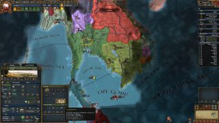 Central Thailand chooses to expand infrastructure on a Europa Universalis map