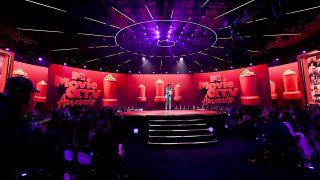 Leslie Jones hosting the 2021 MTV Movie & TV Awards at the Hollywood Palladium on May 16, 2021 in Los Angeles, California.
