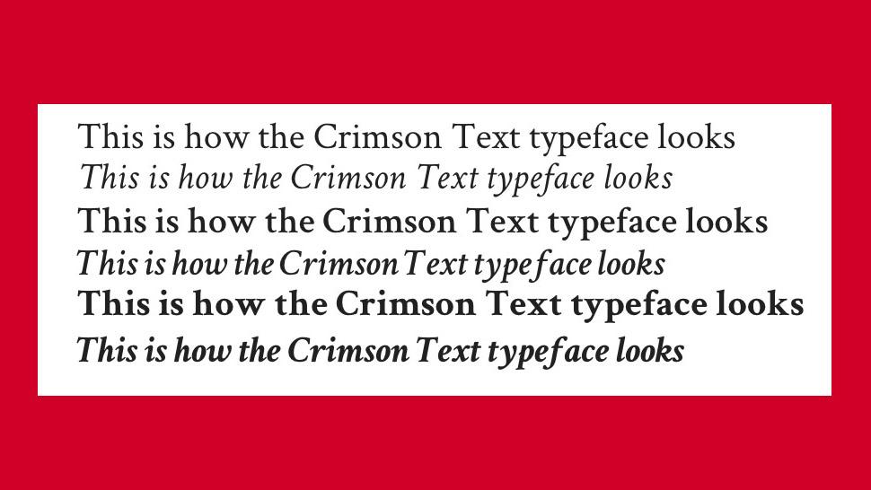 Free web fonts Crimson Text