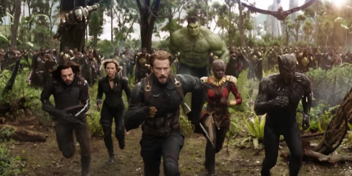 the avengers run away from Thanos