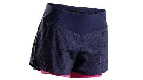Kalenji Kiprun 2-in-1 running shorts with build-in tight shorts
