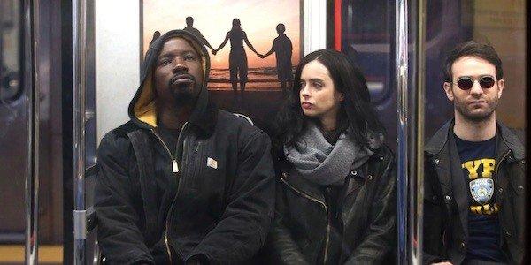 Luke, Jessica, and Matt on the subway