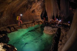 """[It's] like walking in an underground wonderland,"" said NASA astronaut Mike Fincke, describing his experience underground in the Sa Grutta caves in Sardinia, Italy."