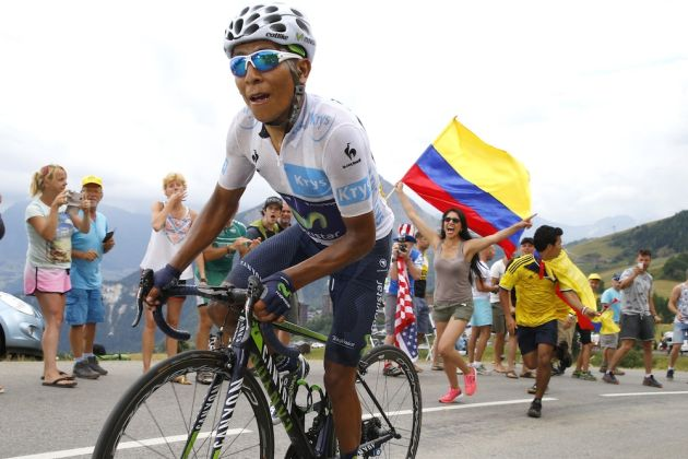 Nairo Quintana on stage nineteen of the 2015 Tour de France