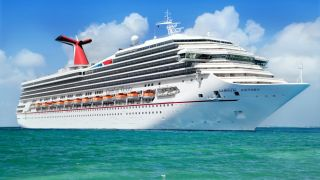 The Carnival Victory cruise ship sets sail from Grand Cayman island in 2013.