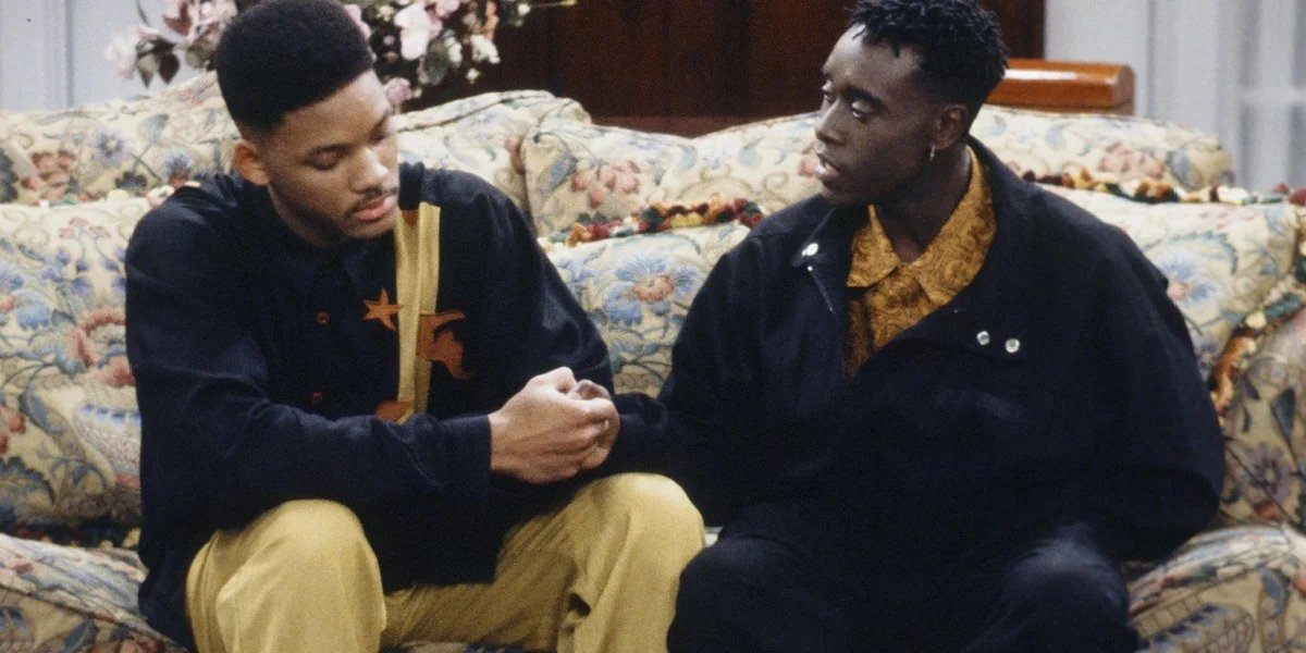 Will Smith and Don Cheadle on The Fresh Prince of Bel-Air