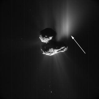 Comet 67P outburst