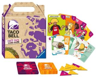 A pack shot to prove Taco Bell Party Pack Card Game is indeed real