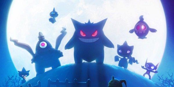 Spooky Pokemon cast in moonlight