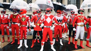 Powers Rangers in rainy New York