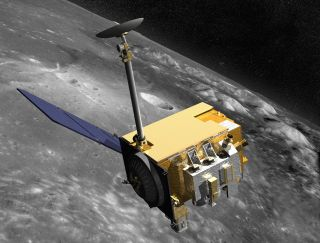 NASA's Lunar Reconnaissance Orbiter will use an onboard laser system to measure the distance from the Beres Heet-Mondlander. [NASA NASA Reconnaissance Orbiter] will use an on-board laser system to determine the distance from the Beresheet Lunar Landing Driver.