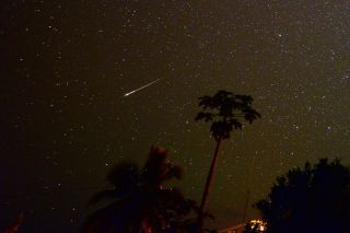 Astrophotographer Jim Denny took this photo of a Southern Delta Aquarid meteor on July 30, 2014, in Kekaha, Kauai, Hawaii.