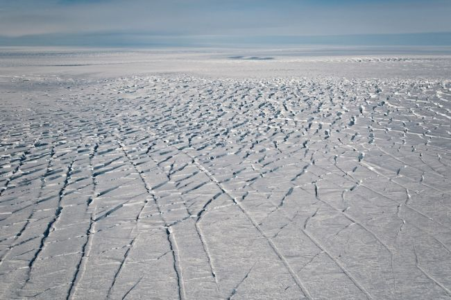 Pine Island Glacier crevasses.