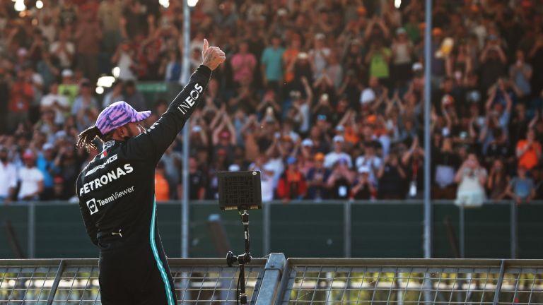 Lewis Hamilton at Silverstone Circuit for the F1 British Grand Prix