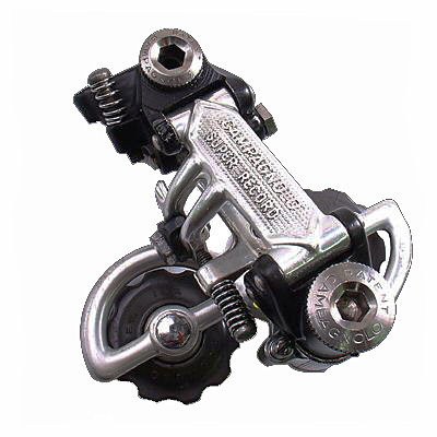 Old Super Record rear derailleur.