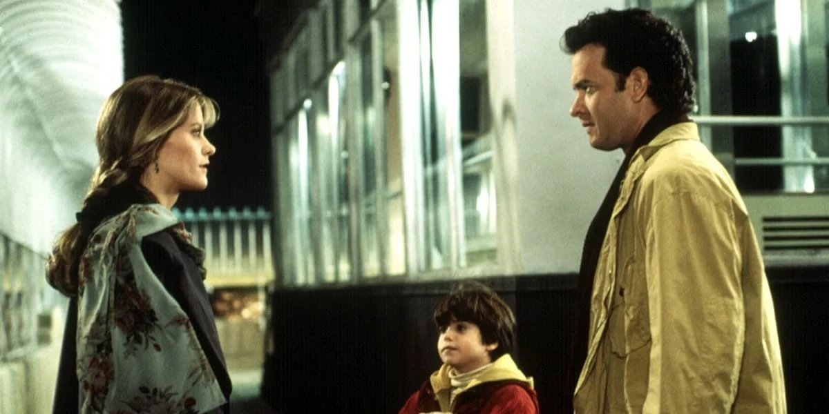 Ross Malinger, Tom Hanks, and Meg Ryan in Sleepless In Seattle
