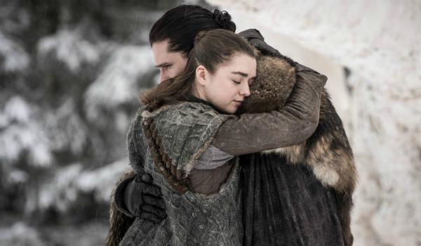Game of Thrones Arya Stark Maisie Williams Jon Snow Kit Harington HBO