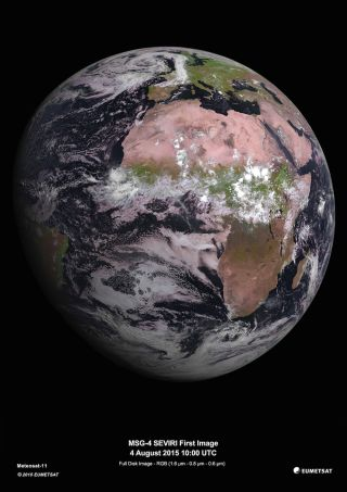 picture of earth taken by msg-4 weather satellite