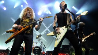 Dave Mustaine and James Hetfield at the Fillmore, 2011