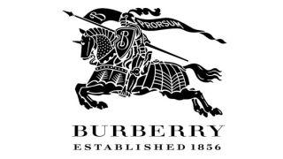 Old Burberry logo of knight riding a steed