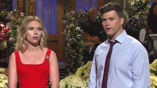 Scarlett Johansson and Colin Jost on SNL