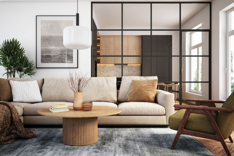 modern living room that is west elm inspired
