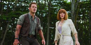 Chris Pratt and Bryce Dallas Howard in Jurassic World