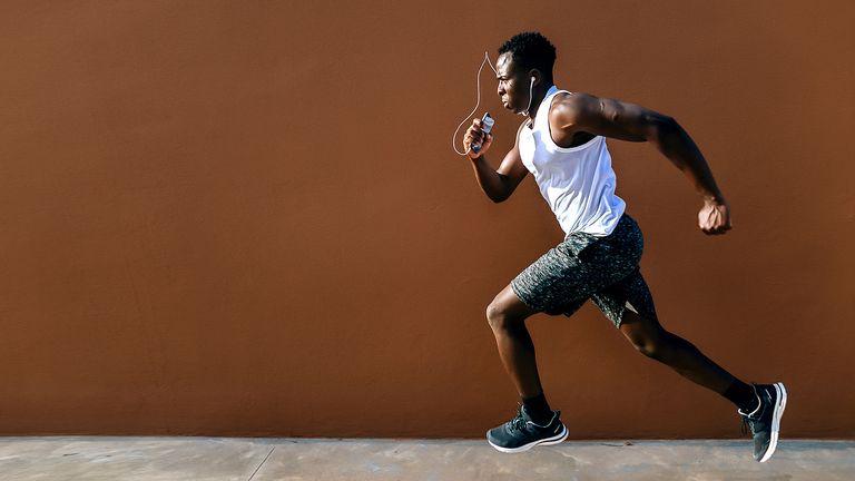 Man running at speed
