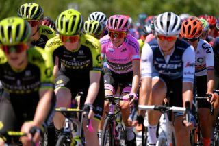 Mitchelton-Scott and overall leader Annemiek van Vleuten at the 2019 Giro Rosa