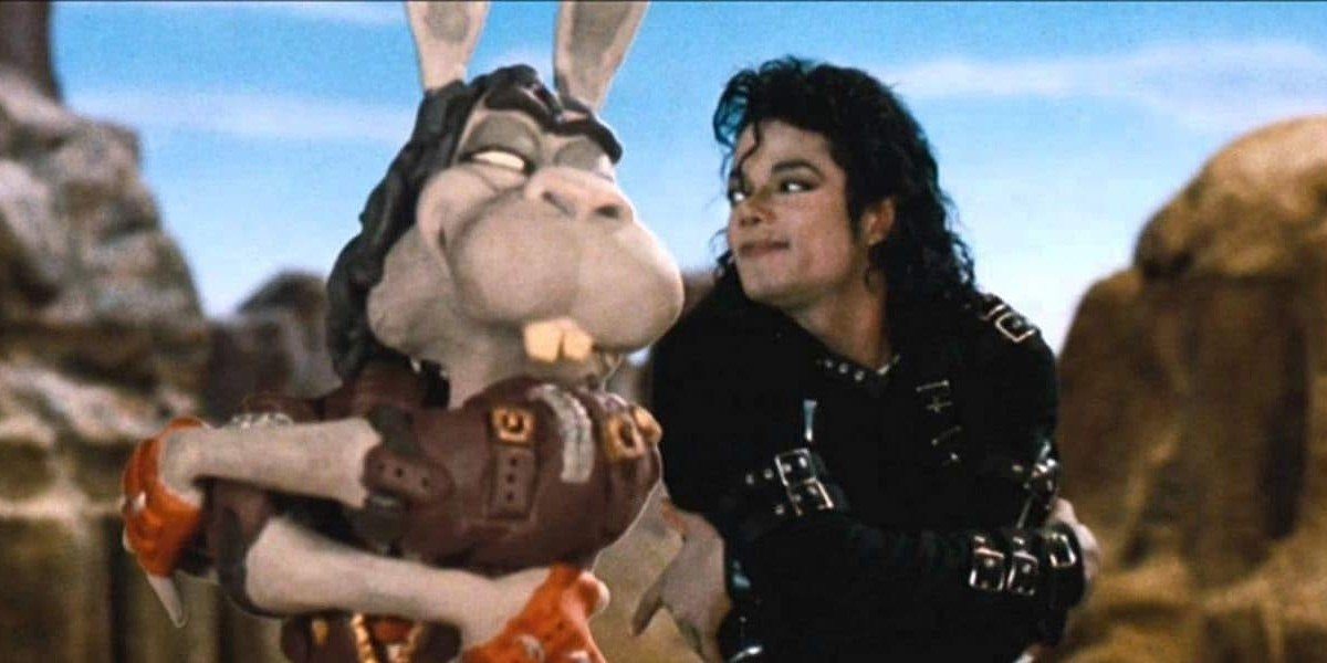Michael Jackson with a bunny