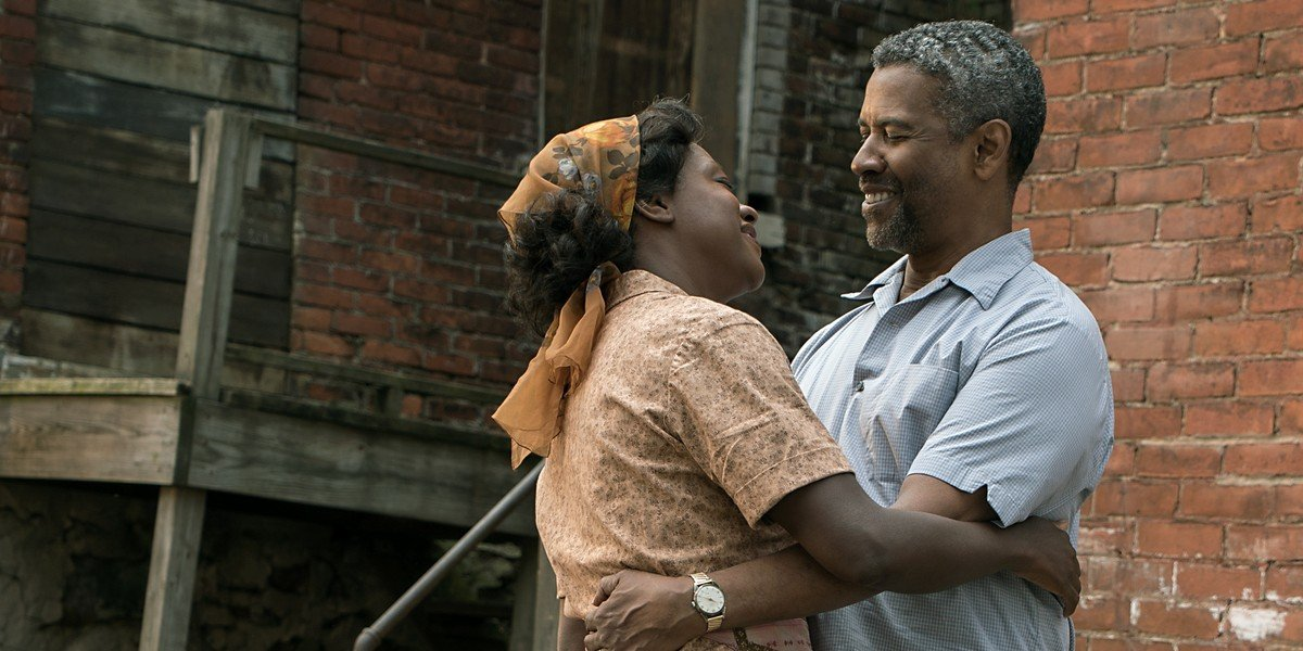 From left to right: Viola Davis and Denzel Washington