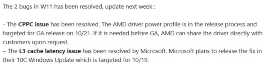 AMD Reddit Post.