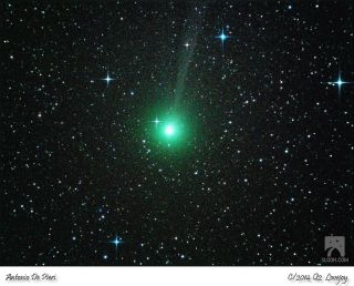 This image of Comet C/2014 Q2 Lovejoy was taken on Dec. 17, 2014 by the Slooh Community Observatory's telescope in Chile.