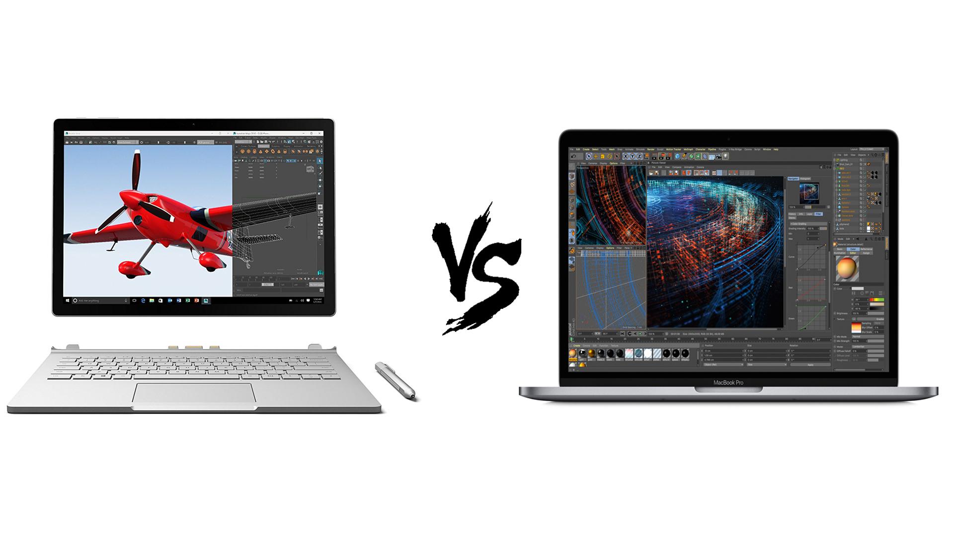 Macbook Pro 2018 Vs Surface Book 2 The Most Premium Pro Laptops Compared Techradar