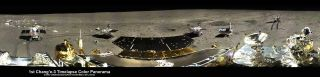 5-Position Panorama Highlights Yutu Rover Movements