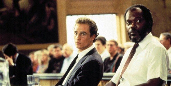 Matthew McConaughey, left, and Samuel L. Jackson in A Time To Kill