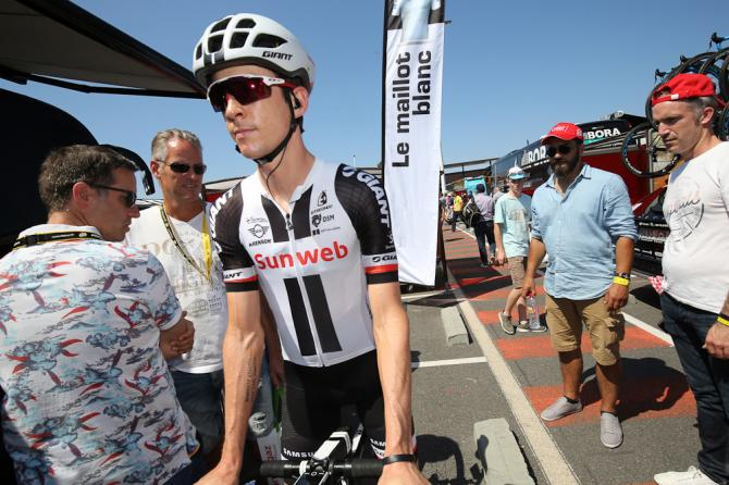 Chad Haga (Team Sunweb) gets ready to start stage 4 at the tour de France