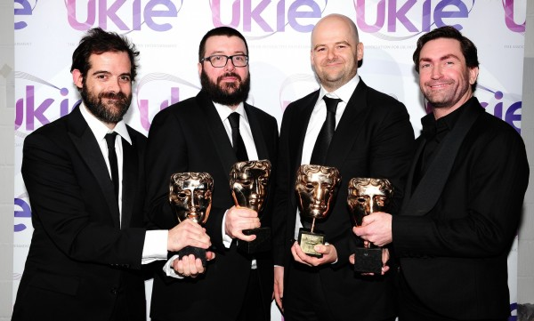 Sam Houser, Aaron Garbut, Dan Houser and Leslie Benzies of Rockstar Games (Ian West/PA)