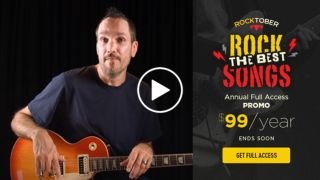 Master the six-string this Rocktober with $80 off an annual Guitar Tricks online guitar lessons subscription