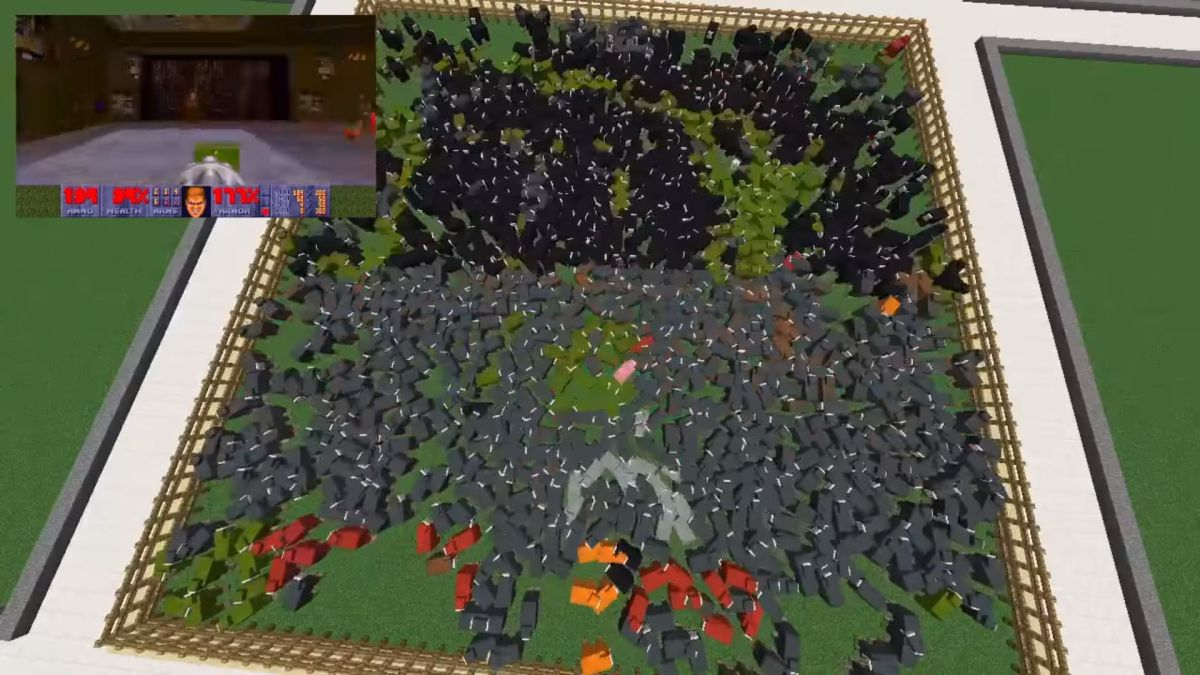 T8Fdy7traVAWHdHCNkP84a 1200 80 Here's Doom running on some Minecraft sheep, sort of null