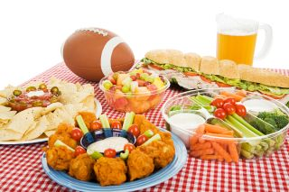football, superbowl, game day, healthy eating, snacks