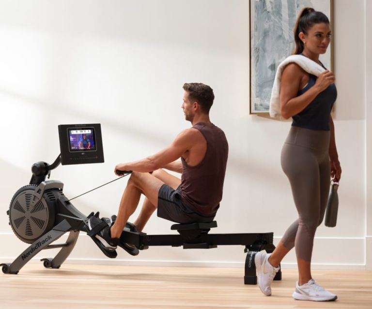 Exercisers with the NordicTrack RW600 rowing machine