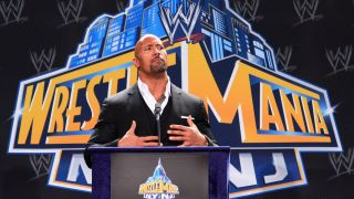 Peacock WWE Network deal — The Rock at the WrestleMania NY/NJ press conference