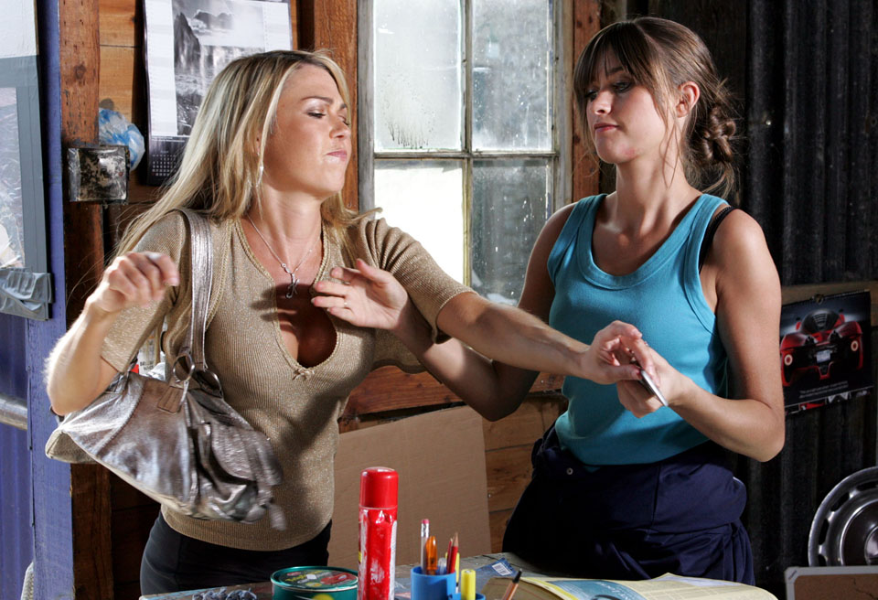 Debbie blackmails Kelly