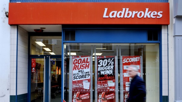 Ladbrokes shop sign