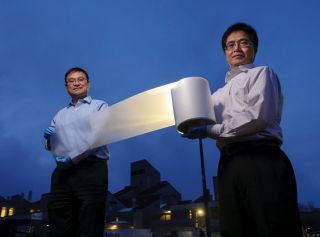a zero-energy material that looks like plastic wrap.