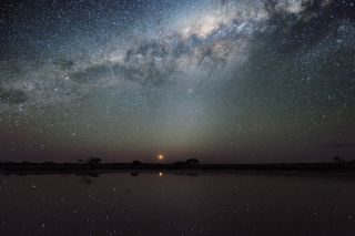 Night sky over Lake Tyrrel